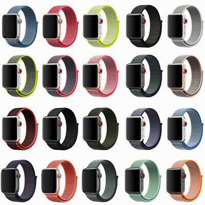 38/40mm  Replacement Nylon Sport Loop Watch Band Strap For iWatch SS