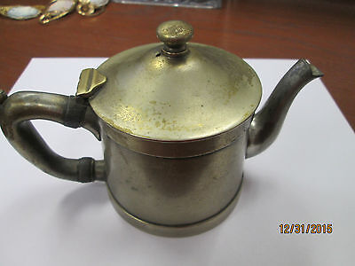 Antique Cecilware Pewter Small Single Serving Tea Pot