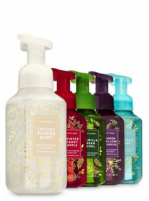 Bath & Body Works Set of 5 Christmas Glow Gentle Hand Foaming Soap