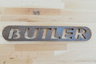 Fantastic Butler Industrial Style Iron Butler Sign Plaque Stencil