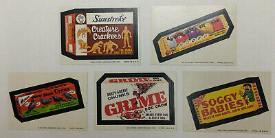 7th Series Wacky Packages full set of 33 stickers Big Muc 1974 Hurtz L'oggs