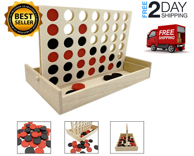 Wooden Connect 4 Large Lawn Yard Outdoor Game  Four in a row Line up Jumbo Game