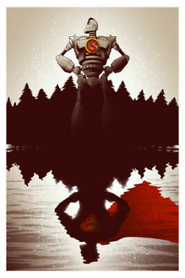 The Iron Giant Classic Movie Fabric Poster Home Decor H-340