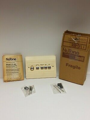 """NuTone Indoor 5/"""" Speaker IS-405 Bright White for Use With IM-4006 NOS"""