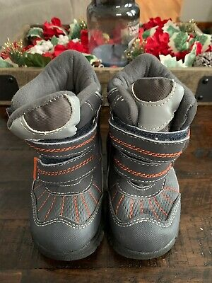 The Childrens Place Toddler,  Kids Winter Snow Boot Size 7 Gray