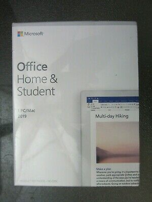 Microsoft Office Home and Student 2019 GENUINE sealed NEW 79G-05029 Win10/Mac OS