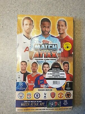 NEW Topps Match Attax Trading card Game 2019/20 Season 120 cards! with 1x Gold