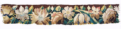 An Antique Tapestry Border with Flowers