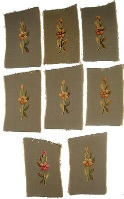 A Set of 8 Tapestry Armrest Covers
