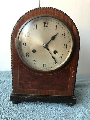 Antique Clock, Vintage Wooden Mantel Chiming Clock For Repair - UNGHANS