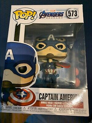 Funko POP! Captain America #573 Avengers Endgame Vinyl Bobble-Head 2 Available