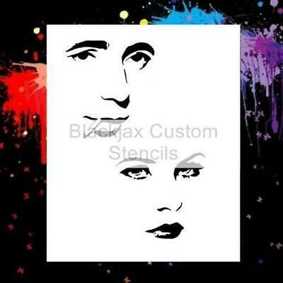 Bogart And Hedy Lamarr Airbrush Stencil,Camouflage