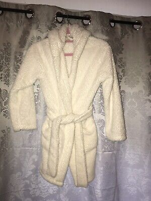 New Look Ivory Dressing Gown With Hood & Ears Size Small (8-11years)