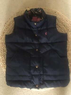 Girls joules Navy Blue Quilted gilet age 7