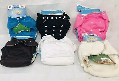 Kissaluvs Cloth Diaper Lot 6 New Cloth Diapers