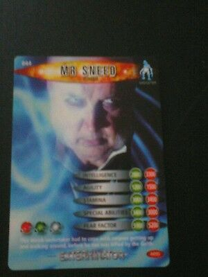 Dr who battles in time test card number 44 Mr sneed