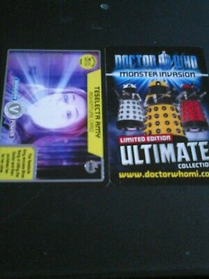 Dr who monster invasion ultimate card number 446 teselecta amy