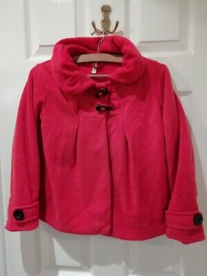 Next Fleece Red jacket with toggles size 10 years