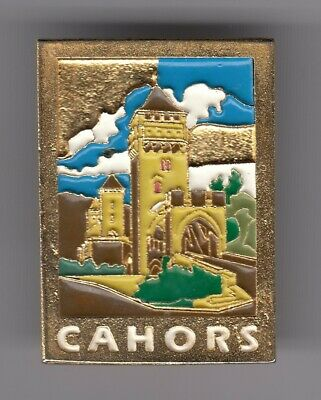 Rare Pins Pin's .. Tourisme Chateau Castle Fort Porte Tour Cahors 46 Big 3D  ~D6