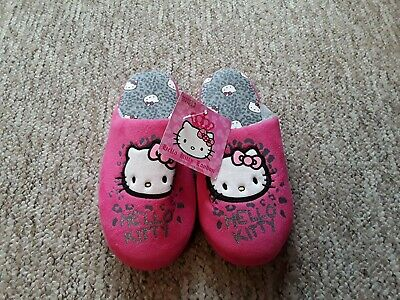 New With Tags Girls Hello Kitty Slippers Size 3 By Mark's & Spencer