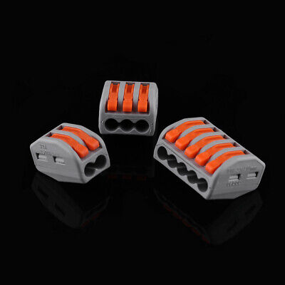 10pcs Quick Plug Spring Lever Terminal Block Electric Wire Connector 2/3/5 Way