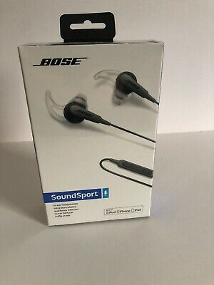 Bose SoundSport In-ear Wired Headphones - Charcoal Black For: iPhone,IPad,IPod