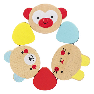 Wooden Grasping Ring Rattle