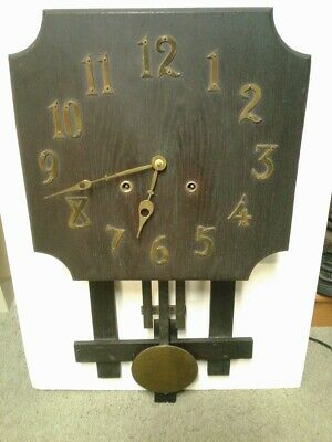 Antique Mission Clock Ct Estate Find 8 Day Time & Strike Keeps Perfect Time