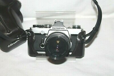 Vintage Olympus OM-1 MD 35mm SLR Film Camera with extras
