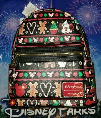 New NWT Disney Parks Holiday Snacks Christmas Loungefly MINI Backpack 2019