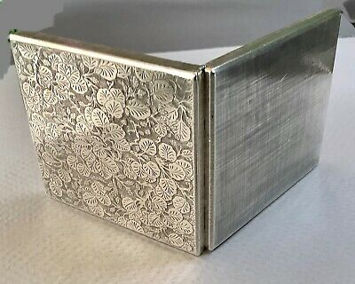 Rare Amazing Mario Buccellati Sterling Silver Box - Intricate Berries Leaves