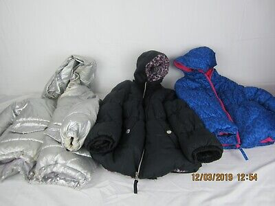LOT of 3 toddler girls winter coats size 6 assorted