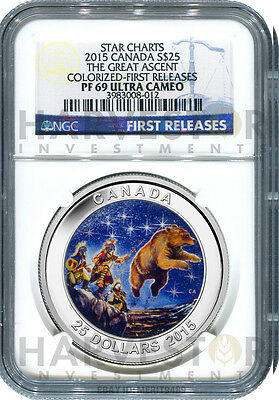 2015 Canada Silver Star Charts - The Great Ascent - Ngc Pf69 First Releases -New