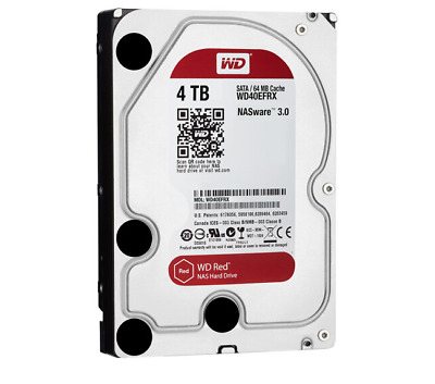 "Western Digital 4TB Internal Hard Drive WD40EFRX HDD 3.5"" SATA III 64MB Cache"