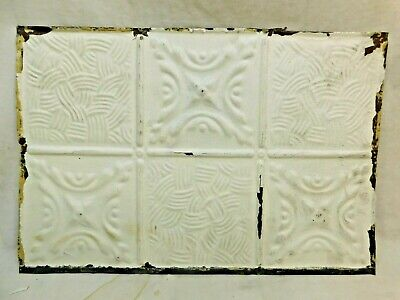 "1800's Antique 18"" x 12"" TIN CEILING Tile Muti-Pattern VICTORIAN Style ORNATE"