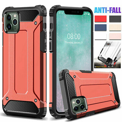 For iPhone 11 Pro Max XS XR X 6s 7 8Plus Shockproof Armor Case Hybrid Back Cover