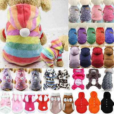 Dog Sweater Pet Knitwear Winter Puppy Sweaters Apparel Small Large Dog Cat Coat