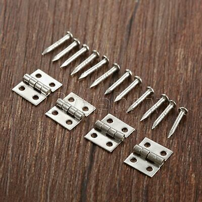 AU Stainless Cabinet Drawer Jewelry Box Dollhouse Hinge Furniture Door Hinges