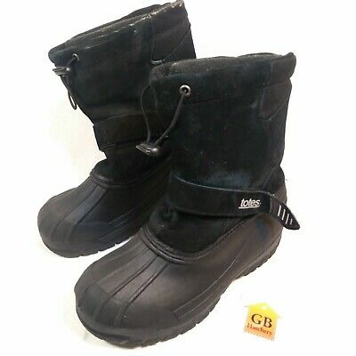 NIB $60-Boys Kids Totes Black Gray /& Blue Ricky Winter Snow Boots-sz 12 to 6