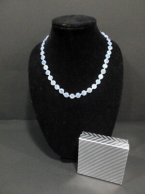 Necklace Antique Chinese Export(Blue/White)  Partial Shape W/ Filigree Clip 7060