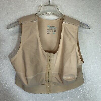 Marena Recovery Sleeveless Vest Compression Bra FVNS Post Surgery Size 3XL Beige