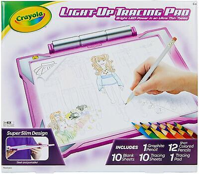 Crayola Light Up Tracing Pad Pink,  Exclusive, Toys, Gift for Girls, Ages 6, 7,