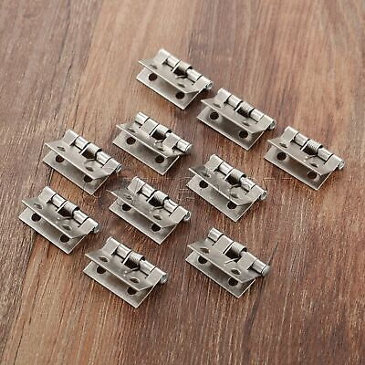 AU Furniture Door Spring Hinges Mini Jewelry Gift Box Dollhouse Cabinet Hinges