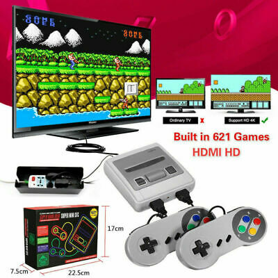 HDMI /AV  621 Games in 1 Mini SFC Classic TV Game Console For NES Retro Gamepads