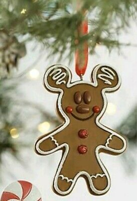 NEW WITH TAGS Disney Parks Sweet Treats Mickey Mouse Gingerbread Cookie Ornament