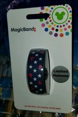 NEW Disney Parks Magic Band MICKEY MOUSE AMERICANA Stars July 4th Navy Blue