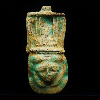 Rare Antique Egyptian Pharaoh Bust Mask Figure...LARGE