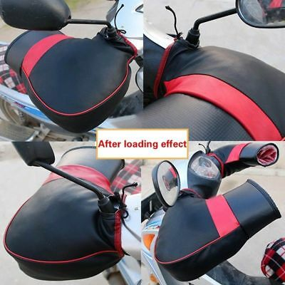 Waterproof Winter Motorcycle Motorbike Handle Cover Muffs Hand Gloves~Rexiao