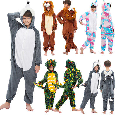 Unisex Kids Boys Girl Animal Kigurumi Pajamas Costume Cosplay Sleepwear Jumpsuit