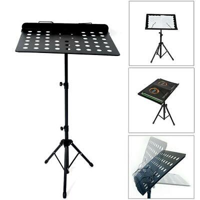 Adjustable Sheet Musician's Gear Heavy-Duty Music Stand Iron Black